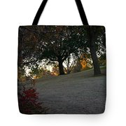 Uphill Sunrise Tote Bag