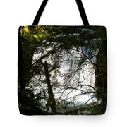 Upper Butte Creek Falls Through The Trees Tote Bag