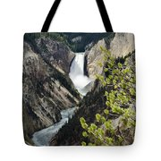 Upper Falls Of The Yellowstone River Tote Bag