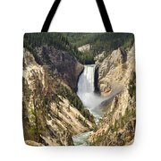 Upper Falls Yellowstone Tote Bag