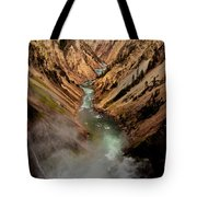 Upper Yellowstone Falls Tote Bag
