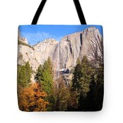 Upper Yosemite Falls In Autumn Tote Bag
