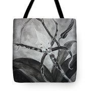 Upside-down Orchid Tote Bag by Estephy Sabin Figueroa