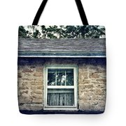Upstairs Window In Stone House Tote Bag