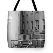 Urban Convergence Black And White Tote Bag