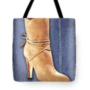 Urban Cowgirl Suede Boots Tote Bag