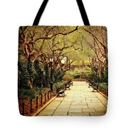 Urban Forest Primeval - Central Park Conservatory Garden In The Spring Tote Bag by Vivienne Gucwa
