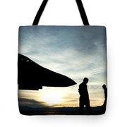U.s. Air Force Airmen Prepare Tote Bag