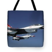 U.s. Air Force F-16 Thunderbirds Tote Bag