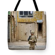 U.s. Air Force Senior Airman Patrols Tote Bag
