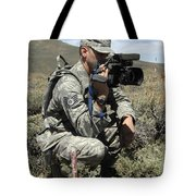 U.s. Air Force Sergeant Shoots Video Tote Bag