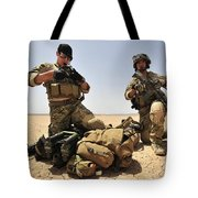 U.s. Air Force Soldiers Gather Tote Bag