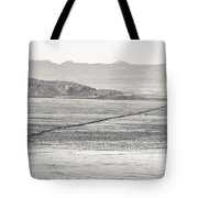 U.s. Alt-89 At Vermilion Cliffs Arizona Bw Tote Bag