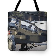 U.s. Army Ah-64d Apache Helicopter Tote Bag