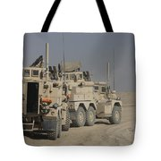 U.s. Army Cougar Mrap Vehicles Tote Bag