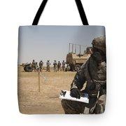U.s. Army Radio Operator Communicates Tote Bag