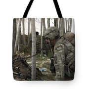 U.s. Army Soldier Communicates Possible Tote Bag