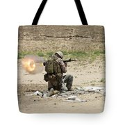 U.s. Army Soldier Fires Tote Bag