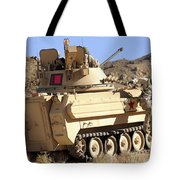 U.s. Army Soldier Jumps Off An M113 Tote Bag