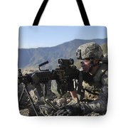 U.s. Army Soldier Provides Overwatch Tote Bag