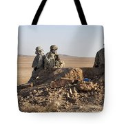 U.s. Army Soldiers At A Checkpoint Tote Bag