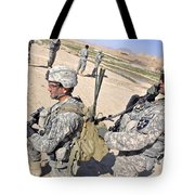 U.s. Army Soldiers Call In An Update Tote Bag