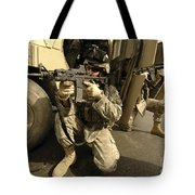 U.s. Army Soldiers Providing Overwatch Tote Bag