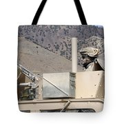 U.s. Army Specialist Scans His Sector Tote Bag