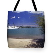 U.s. Coast Guard Cutter Jarvis Transits Tote Bag by Michael Wood