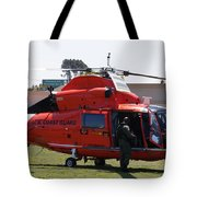 Us Coast Guard Helicopter Tote Bag