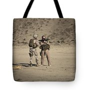 U.s. Contractor Firing An Automatic Tote Bag