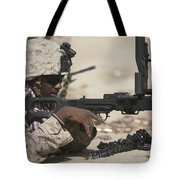 U.s. Marine Clears The Feed Tray Tote Bag