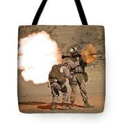 U.s. Marine Fires A Rpg-7 Grenade Tote Bag