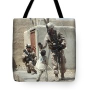 U.s. Marine Gives An Afghan Child Tote Bag