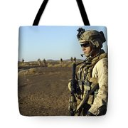 U.s. Marine Posts Security Tote Bag