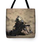 U.s. Marine Sights In A Barrett M82a1 Tote Bag