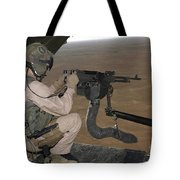 U.s. Marine Test Firing An M240 Heavy Tote Bag