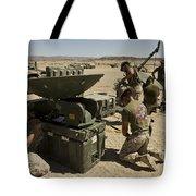 U.s. Marines Assemble A Satellite Dish Tote Bag