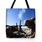 U.s. Marines Brace Themselves While Tote Bag