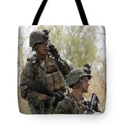 U.s. Marines Communicate Tote Bag