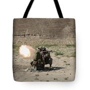 U.s. Marines Fire A Rocket-propelled Tote Bag