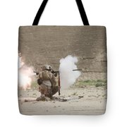 U.s. Marines Fire A Rpg-7 Grenade Tote Bag