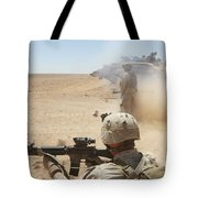 U.s. Marines Fire Several Tote Bag