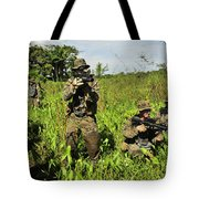 U.s. Marines Guard An Extraction Point Tote Bag