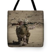 U.s. Marines Load A Fragmentation Round Tote Bag