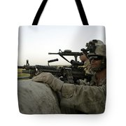 U.s. Marines Observe The Movement Tote Bag by Stocktrek Images