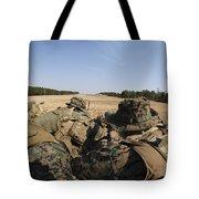 U.s. Marines Participate In A Known Tote Bag