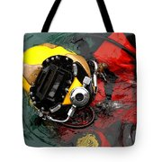 U.s. Navy Diver Is Lowered Tote Bag by Stocktrek Images