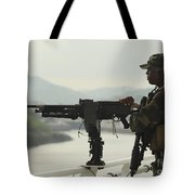U.s. Navy Petty Officer Stands Watch Tote Bag