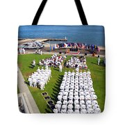 U.s. Navy Sailors Attend An Tote Bag